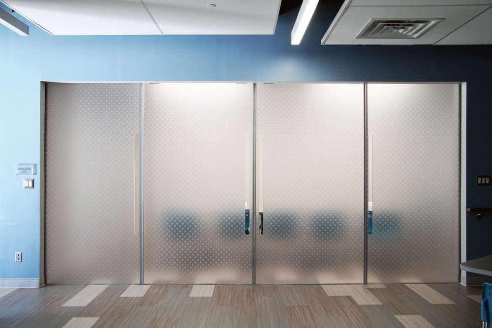 YMCA Homewood-Brushton Custom Polycarbonate Door Panels with Pattern : polycarbonate doors - pezcame.com