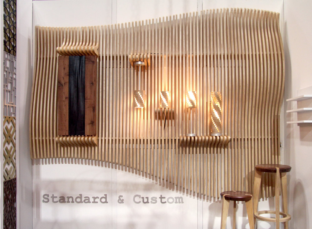 karu lamp / undulating fin wall