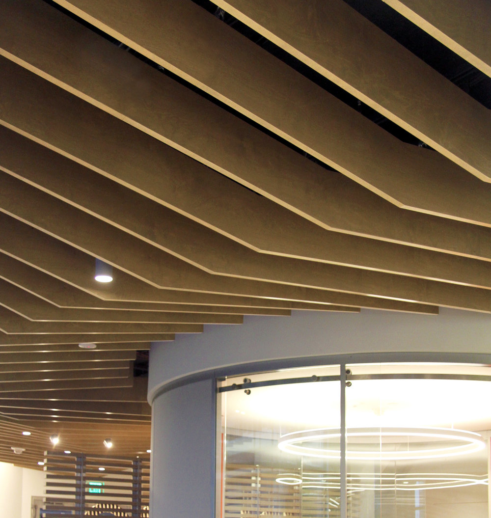 NUMO office custom ceiling baffles
