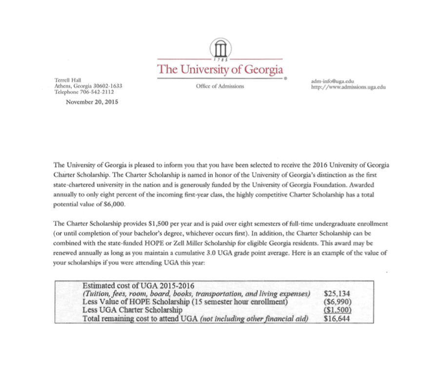 How to read a college award letter (and ignore the loans). — Game ...