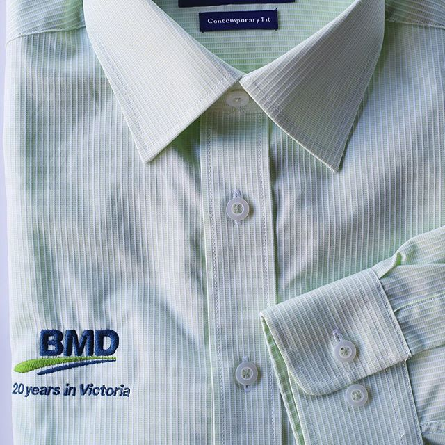 BMD are celebrating 20 years in Victoria this year, and we have dressed them to impress in Gloweave business shirts with custom embroidery. This is a great way to reward your team for milestones achieved PLUS look sharp at client functions. Contact us today to set up order-on-demand uniforms or corporate wear *makeovers* for your team.