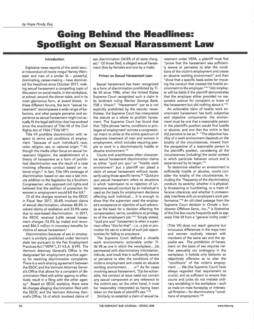 Spotlight on Sexual Harassment by Hope Pordy - VT Bar Journal Spring 2018_Page_1.jpg