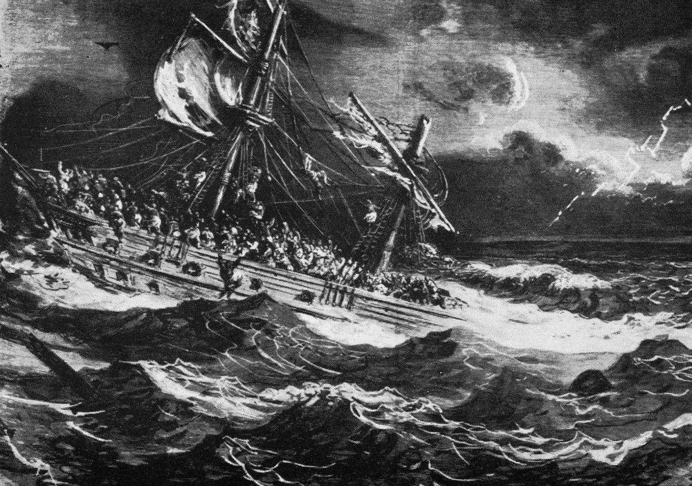 Corsaire -Shipwreck by Gustav Dore