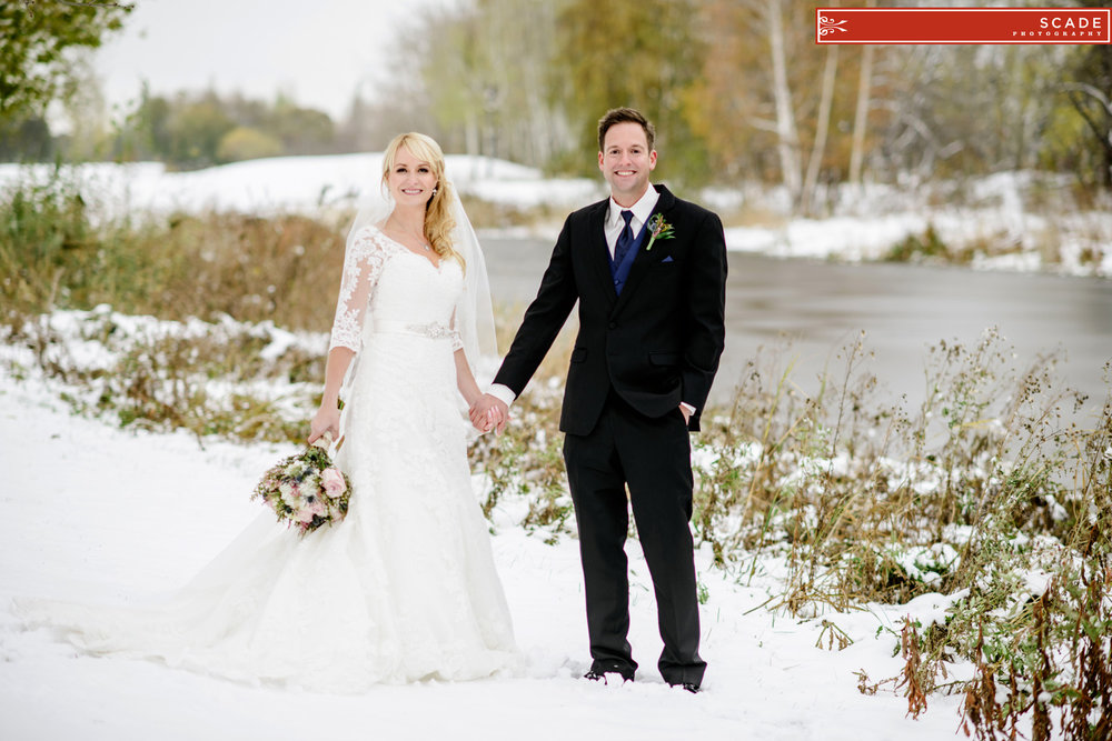 St. Albert Winter Wedding Photography