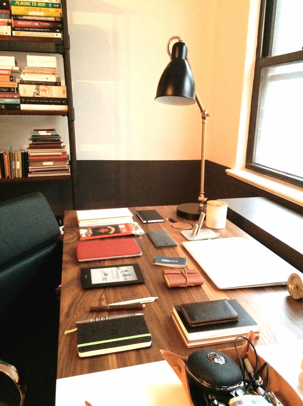 Zach's desk at home.