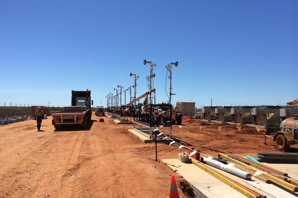 Port Hedland mother station site – fill panels