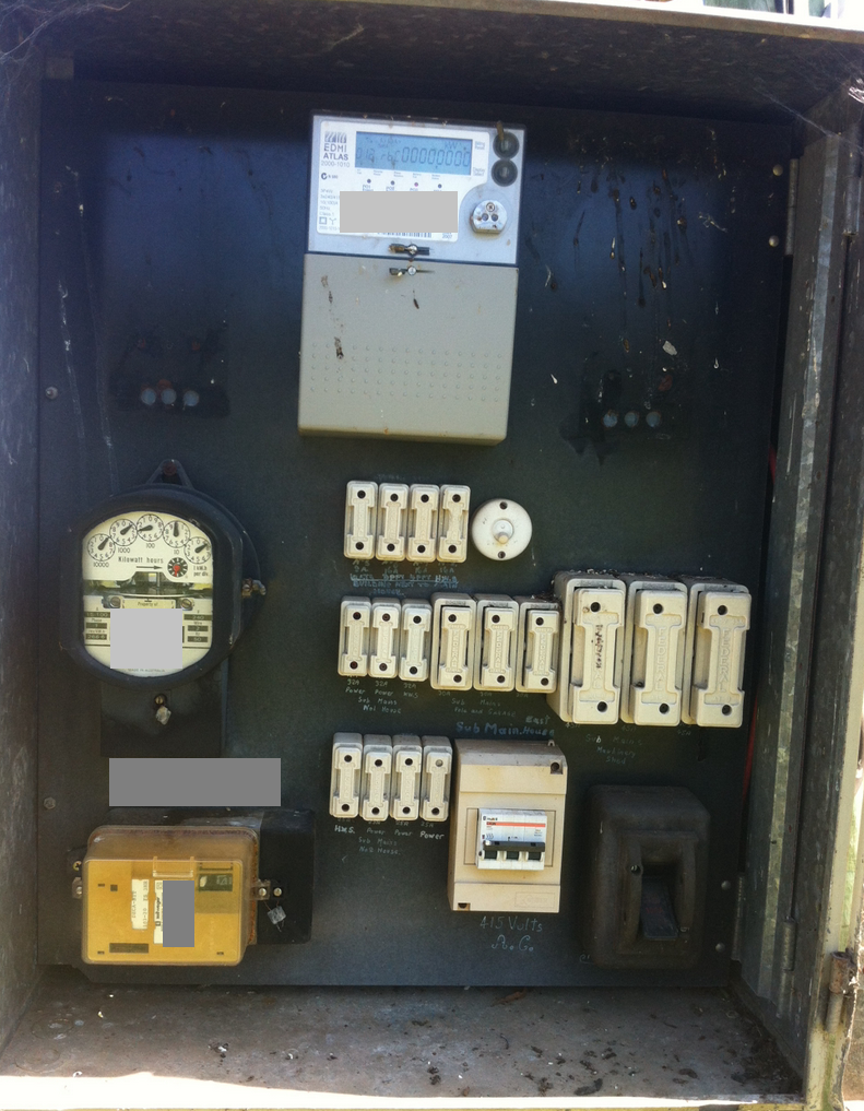 Meter box potentially containing asbestos