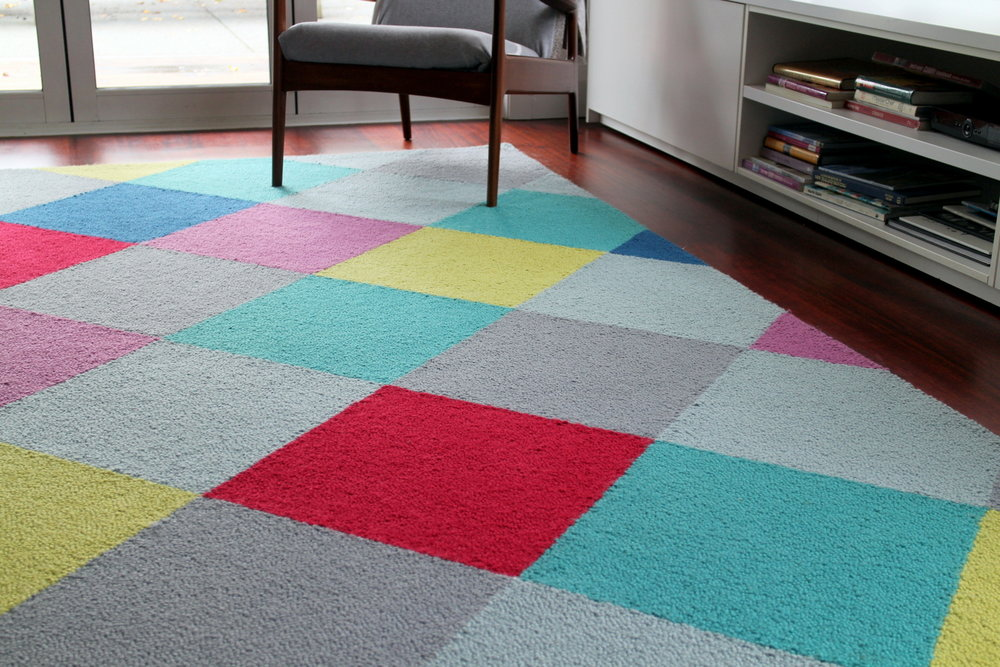 Diamond Rug in bright colours