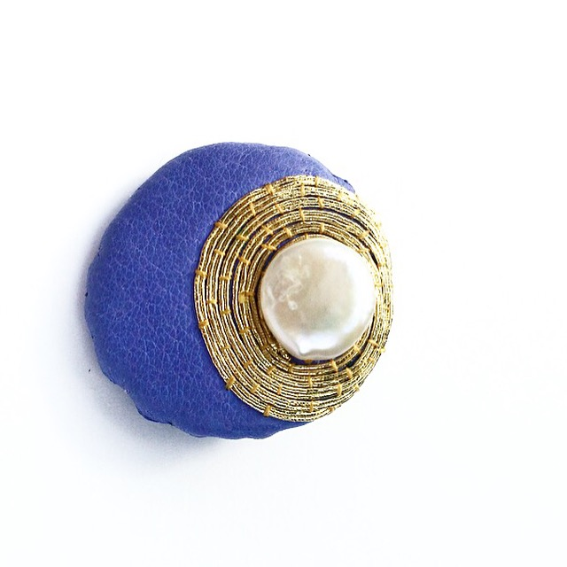 Lilac Gold F:W Pearl Brooch. Harriet Frances Stiles.JPG