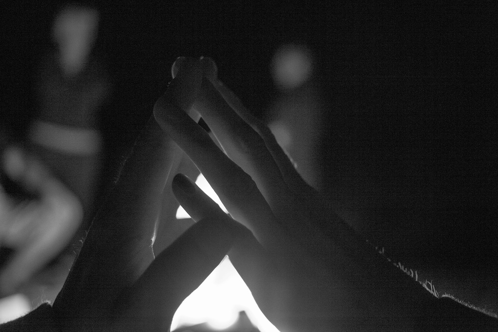 Our hands.