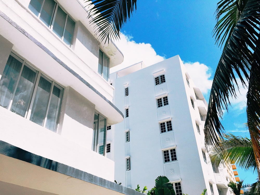 Art Deco Architecture, South Beach Miami, Florida. Shot when we arrived to our Air B n B apartment.
