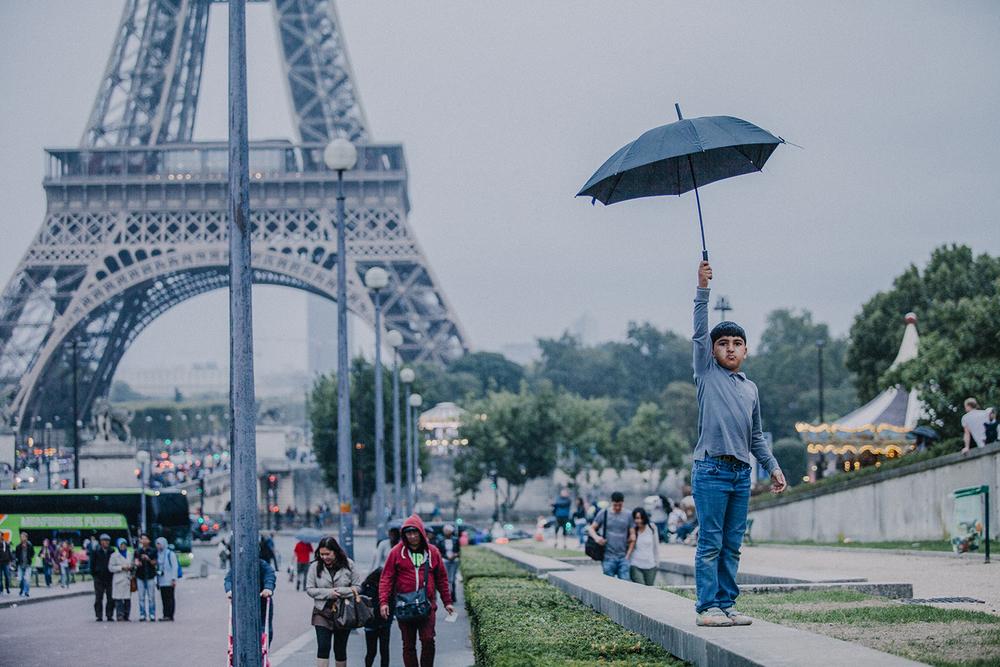 A rainy evening in Paris.