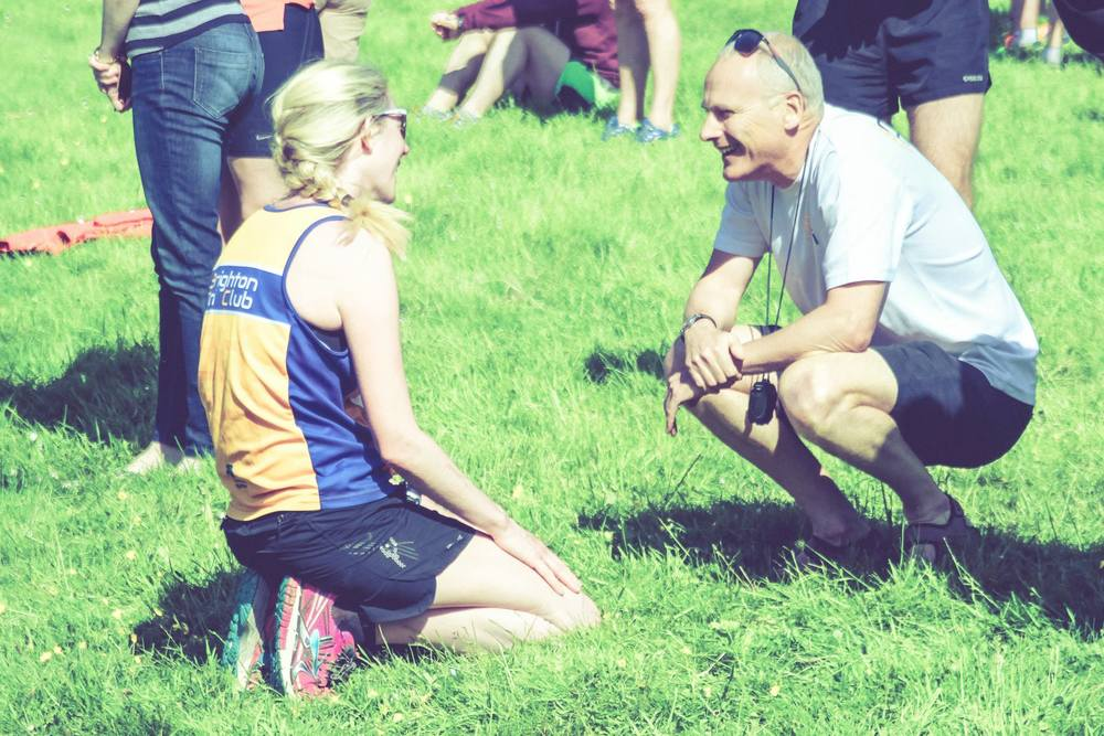 On the South Downs Way Relay - athlete and coach