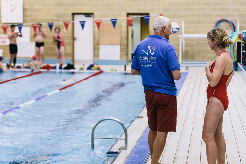 Wednesday evening, Christs Hospital and another swim session getting underway