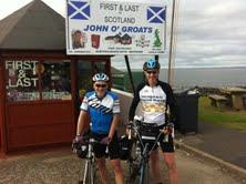 We made it - Ray and I as far North in the UK as you can go on a bike