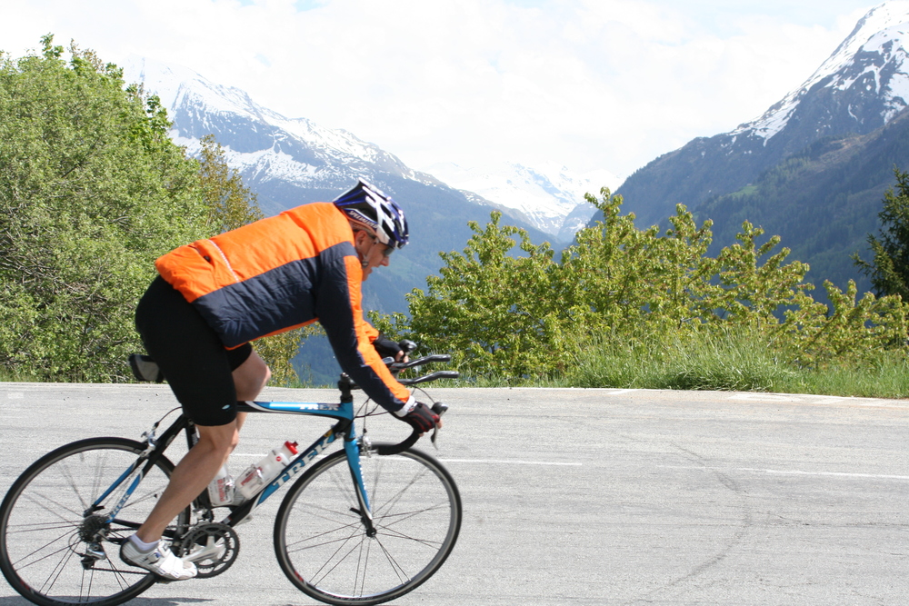 Descending, cornering and loving every minute - in the French Alps