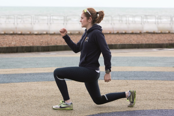 Lunging in Hove, with thanks to Phoebe and photographer Rosie Hallam