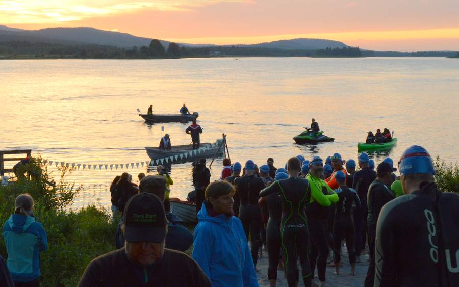 … and this looks like it will be great fun! (Photo from Arctic Circle Swim site)