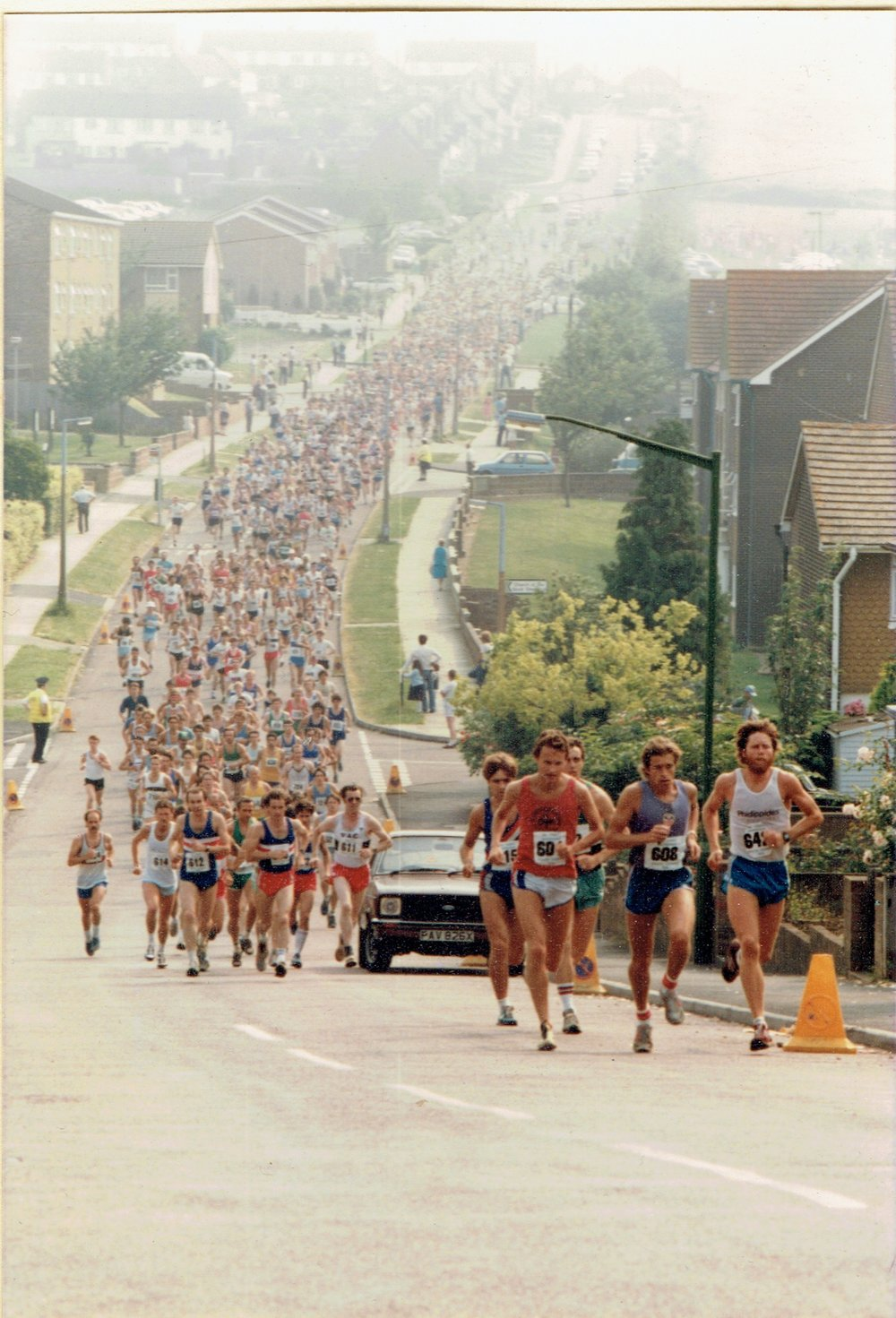 Ah! Those were the days - enjoying the view from the front (in the red vest and white shorts)