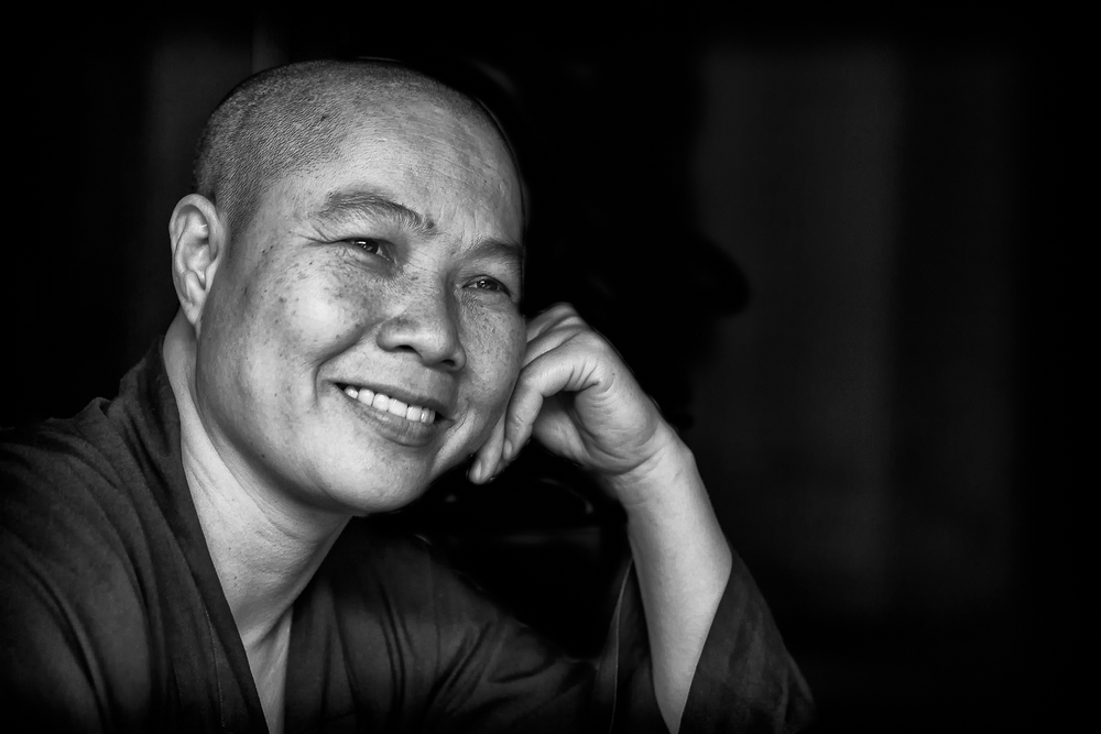 The serene monk.