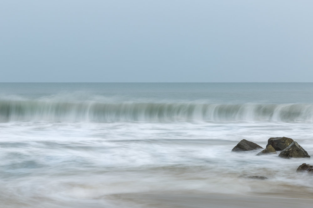 2 second exposure, ISO 100, f22 with four stop ND filter. Cue a well timed wave.