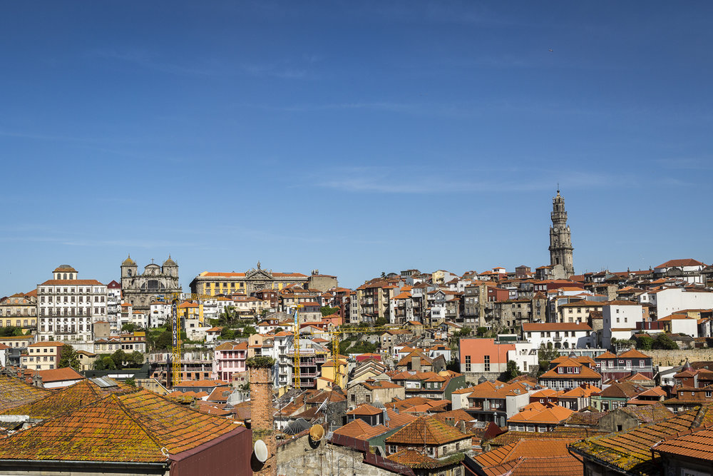 Porto city is dominated by the Tower of Clergies, one of only four oval shaped churches in the world.