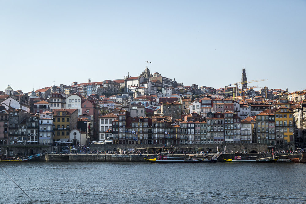 Porto city and the Douro River.