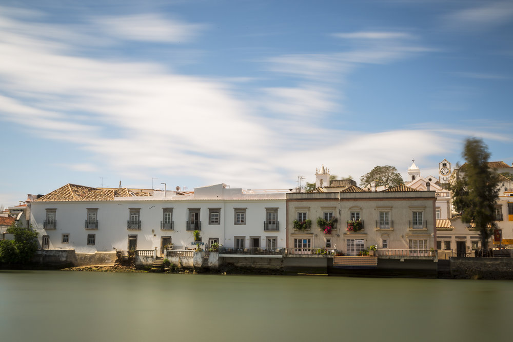 Riverfront architecture. Tavira, Portugal.