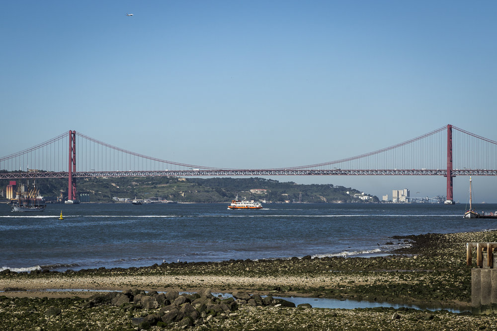 25 April Bridge and the Tagus at low tide.