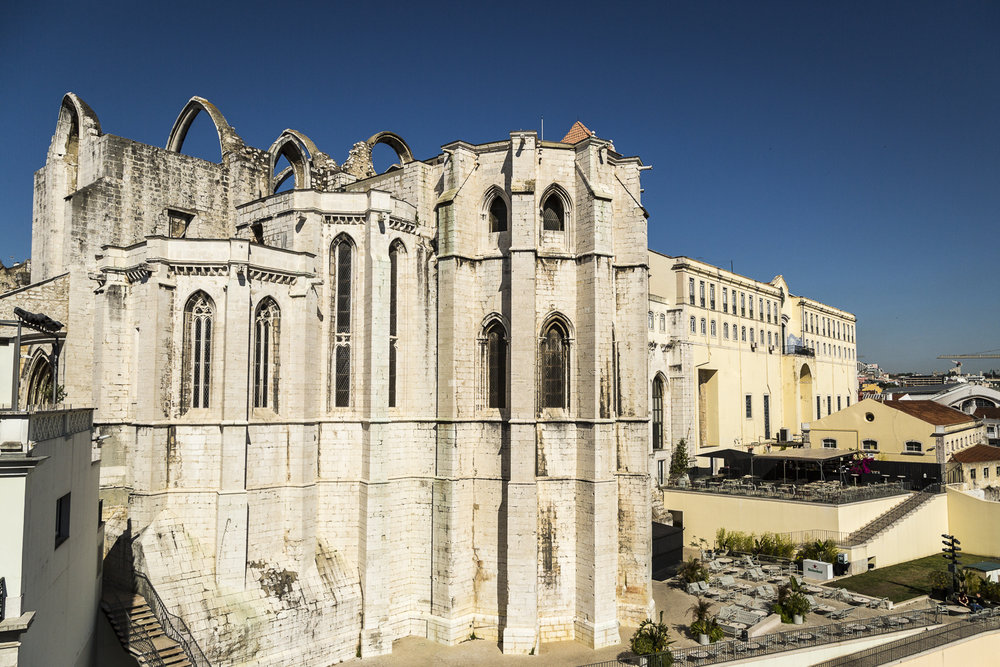 Carmo Convent. One of the few central Lisbon buildings to survive the earthquake of 1755.