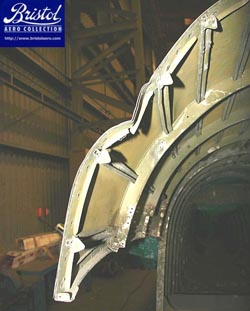 Damage to front of Rear Fuselage