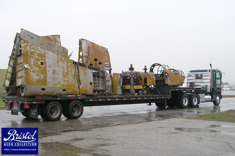 The first truck on its way to Triumph Structures