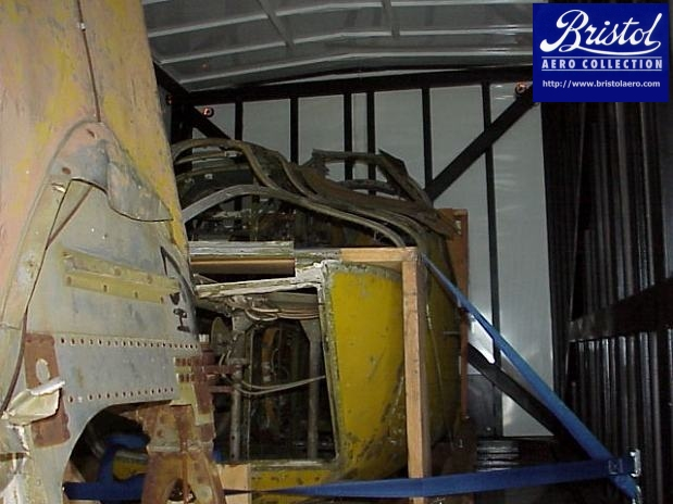 On the second van, the front fuselage was loaded first, followed by the centre wing section