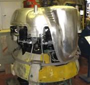 Unusual carburettor intake, now restored on Mercury #1