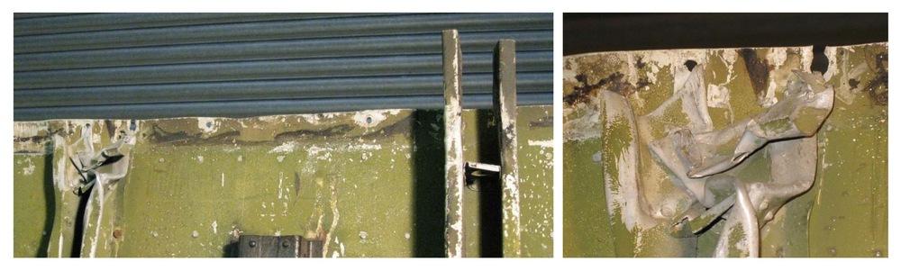 Centre wing under-floor stiffeners