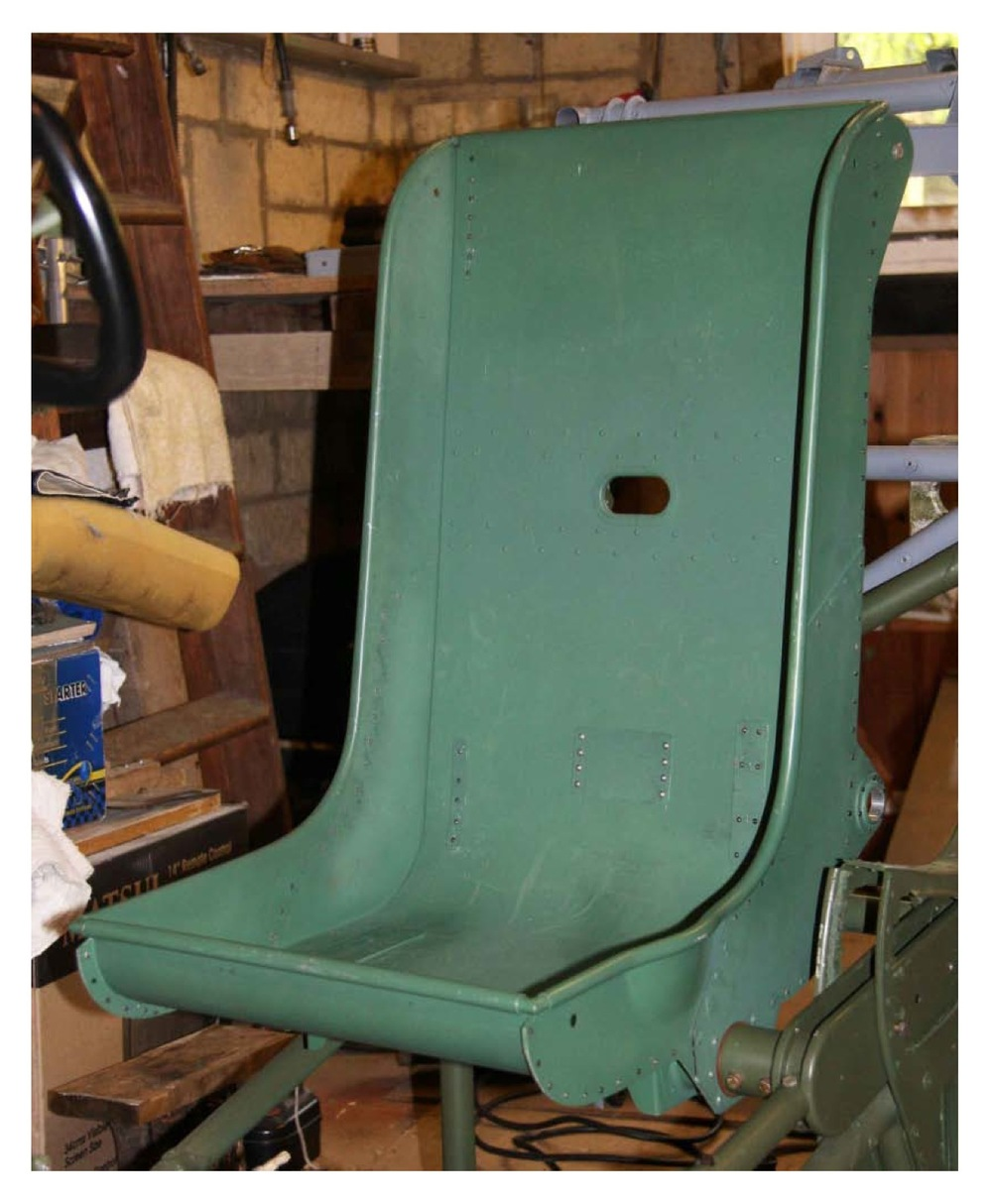 Photo 9: completed pilot's seat