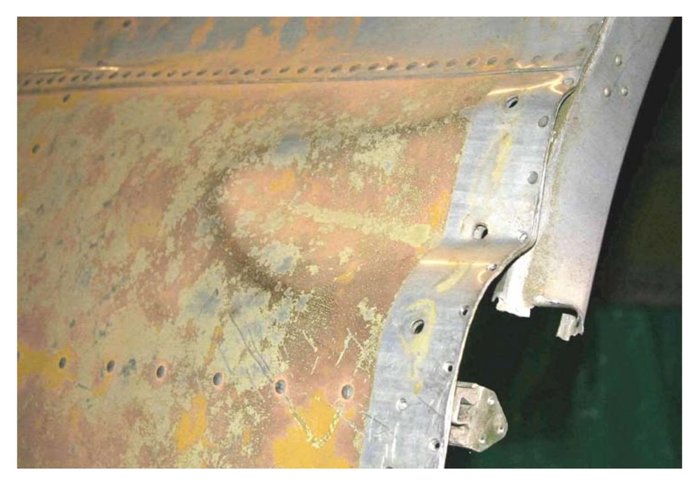 Damaged fuselage