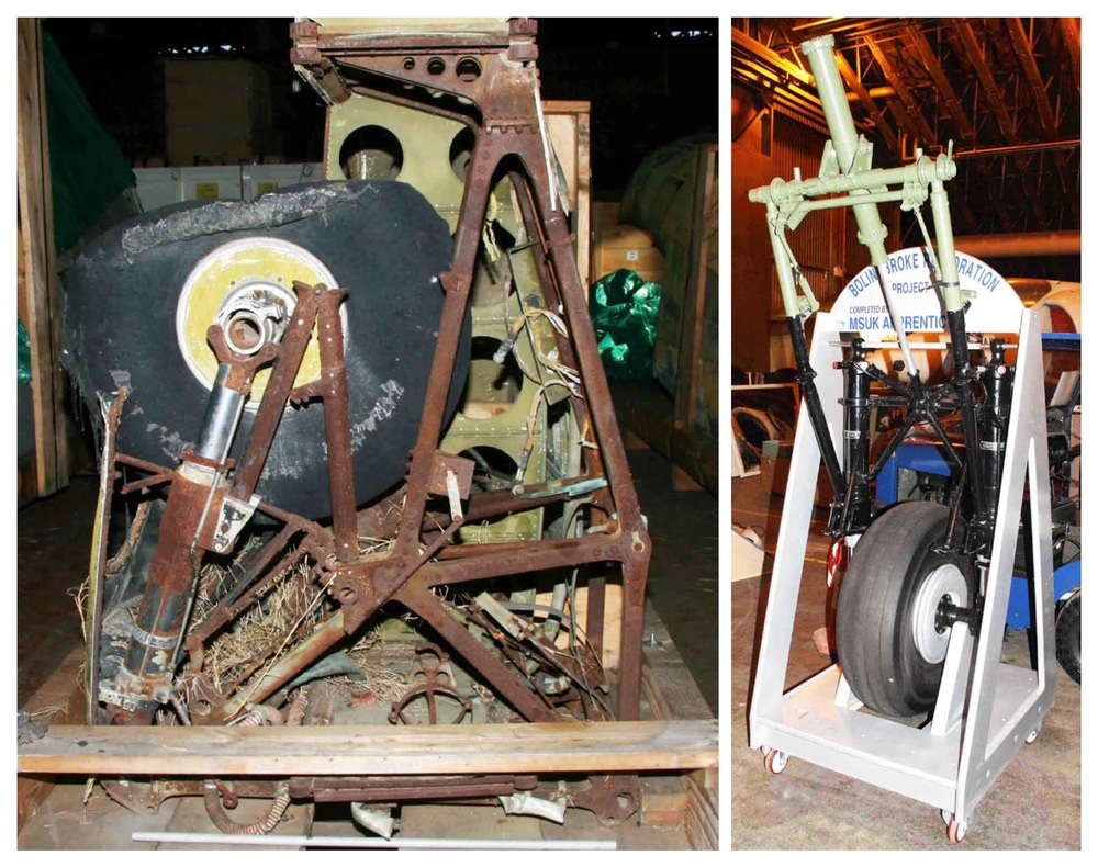 Landing gear, before and after