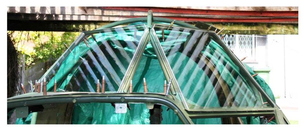 Triplex front cockpit glazings