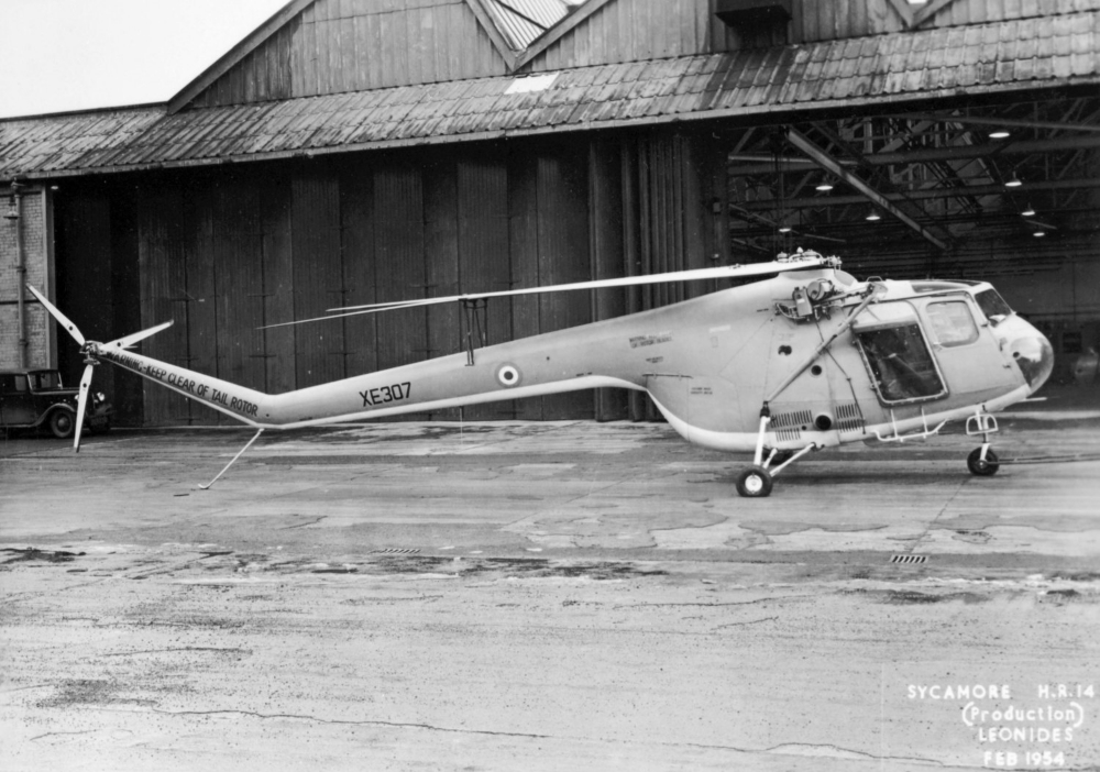 The Bristol Sycamore was the first British-designed helicopter to serve with the Royal Air Force.   Produced by the Bristol Aeroplane Company, it was employed on search and rescue and anti-submarine warfare duties.