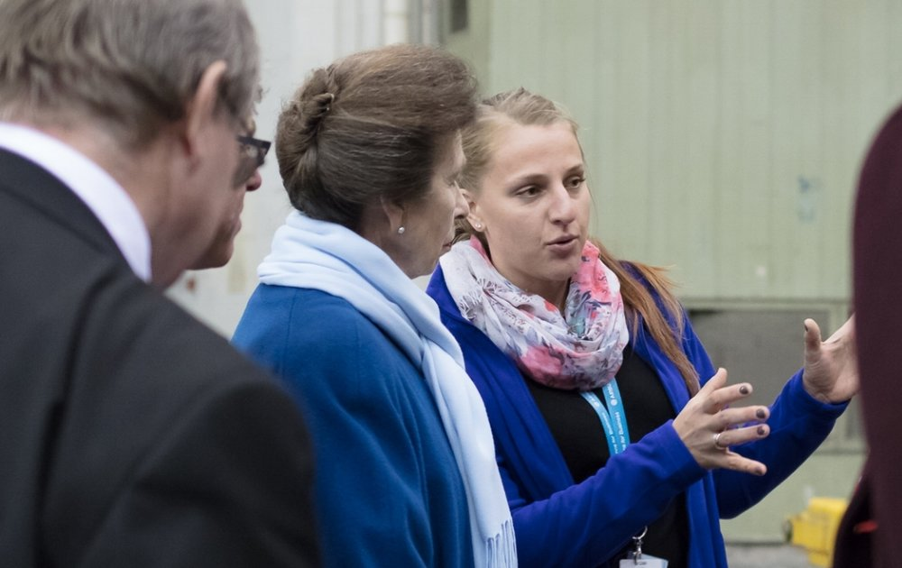 HRH The Princess Royal meets with Aerospace Bristol volunteers
