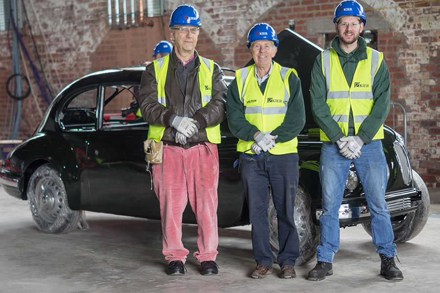 Stefan Cembrowicz (Chairman of the Bristol Owners Heritage Trust), Peter Campbell (Managing Director Spencer Lane Jones LTD) and Martin Boon (Engineer from Spencer Lane Jones LTD).