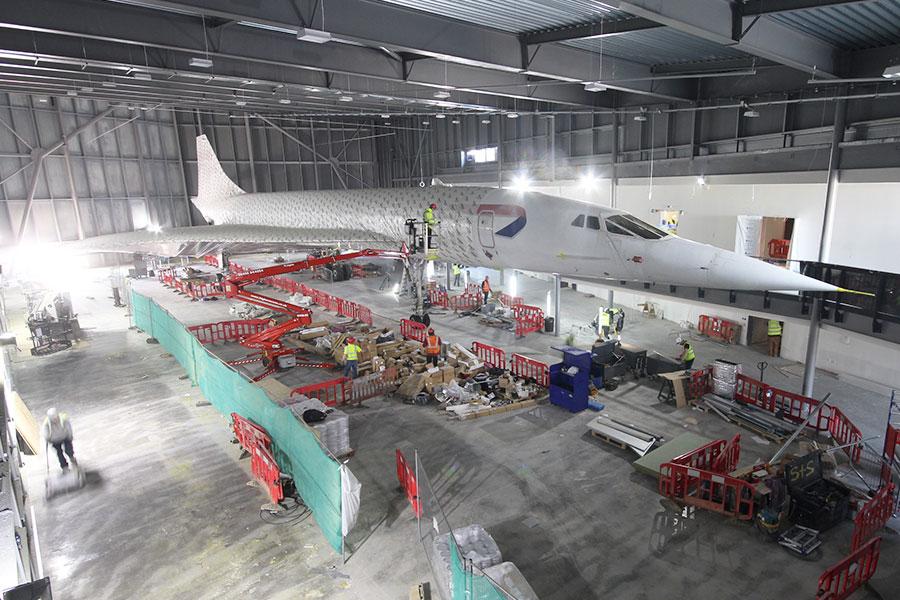 Concorde unwrapped ahead of Aerospace Bristol opening ... Aerospace Bristol