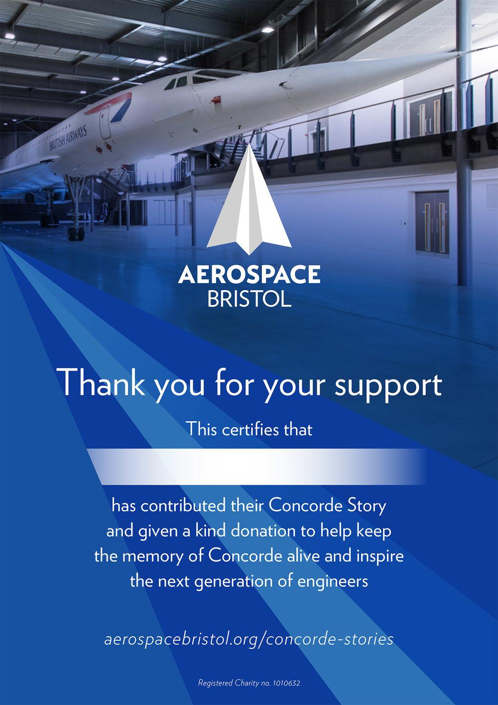 Concorde plan certificate