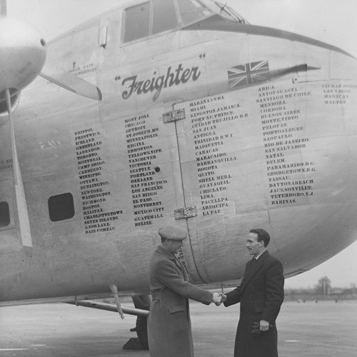 Bristol Freighter on return from South America 1948