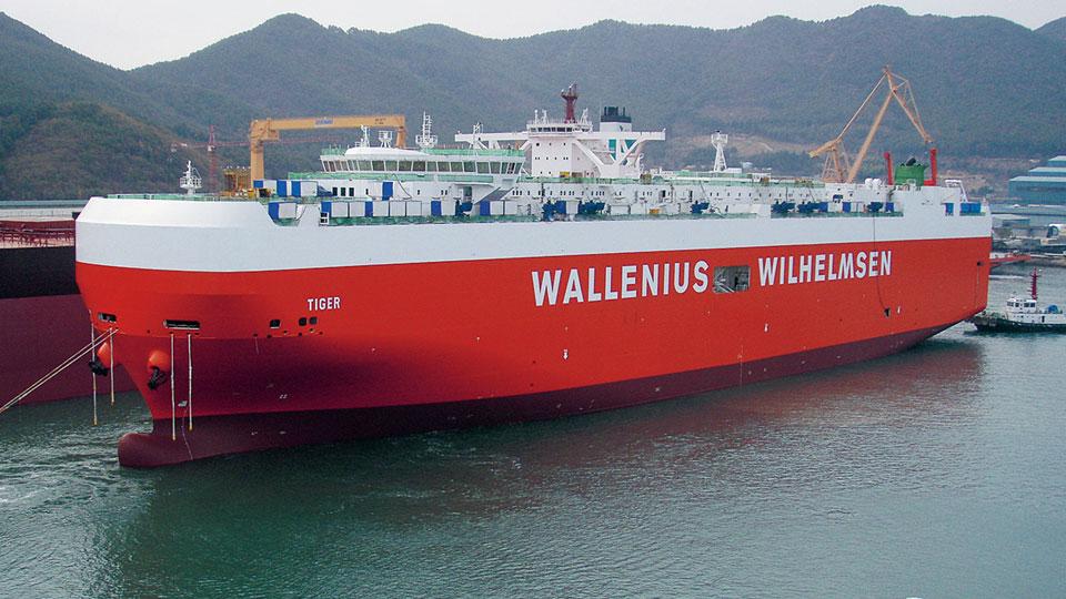 On board Wallenius Wilhelmsen's Tiger vessel bound for Bristol - With thanks to Wallenius Wilhelmsen Logistics -The Bristol Aero Collection Trust's preferred RORO carrier for transport of aircraft destined for Aerospace Bristol