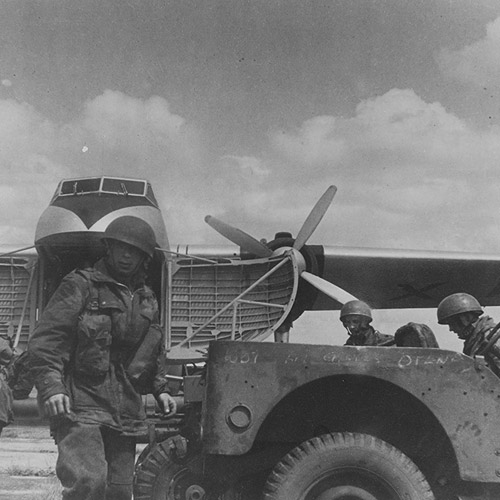 Paratroopers and Jeep disembark from Type 170