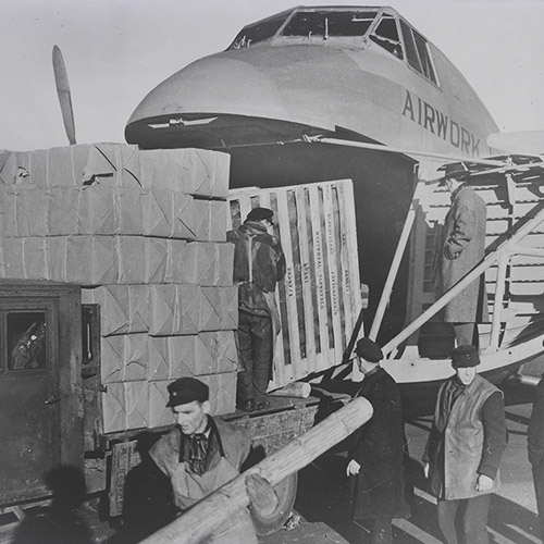 Freighter on Berlin airlift, 26 Nov 1948