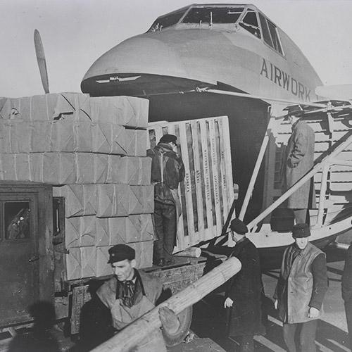 Freighter on Berlin airlift, 26 Nov 1948