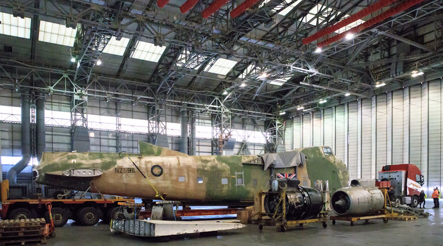 She's here! - The Freighter made the final leg of her journey into the Brabazon Hangar in Filton